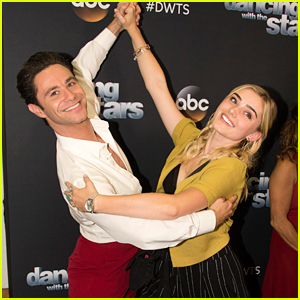 Meg Donnelly Dances With Sasha Farber Backstage at 'Dancing With The Stars'
