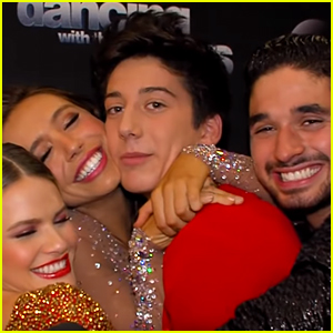 DWTS's Milo Manheim & Alexis Ren Share Adorable Hug Moment During Interview