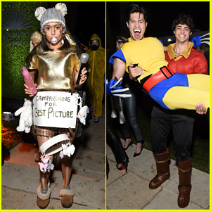 Ross Butler Jumps in Noah Centineo's Arms at Casamigos' Halloween Bash!