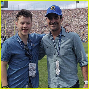 Nolan Gould's 'Modern Family' Dad Takes Him to His First Football Game for His Birthday!