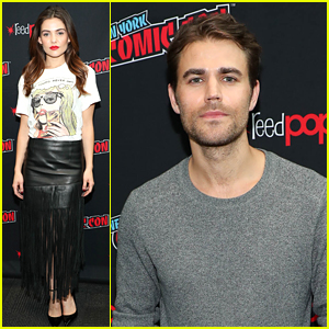 Danielle Campbell & Paul Wesley Attend NYCC to Debut 'Tell Me A Story' Trailer!