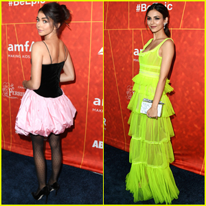Sarah Hyland & Victoria Justice Look So Chic at amfAR Gala 2018!
