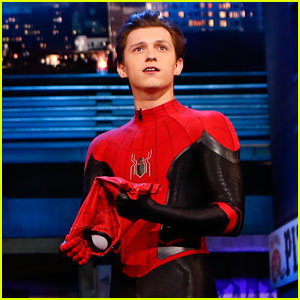 Tom Holland Shows Off His Spider-Man Suit on Last Day of 'Far From Home' Filming