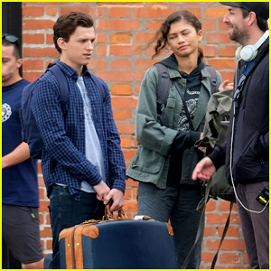 Tom Holland & Zendaya Carry Their Own Bags for 'Spider-Man' Scene