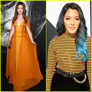 Virginia Gardner Wears Orange Gown for 'Halloween' Premiere in Hollywood