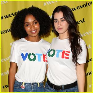 Lauren Jauregui Joins Yara Shahidi At 'We Vote Next Summit' in Los Angeles