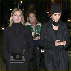 Cara Delevingne & Ashley Benson Enjoy a Night Out with Suki Waterhouse!