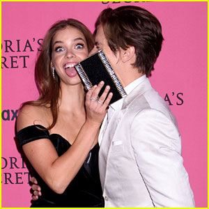 Dylan Sprouse & Girlfriend Barbara Palvin Get Silly at Victoria's Secret Fashion Show After Party!