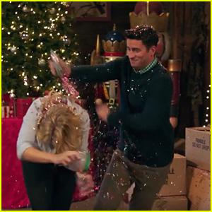 Emily Osment & Ryan Rottman Have Huge Glitter Fight in 'Christmas Wonderland' Trailer