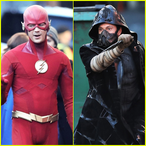 Grant Gustin Films Scenes for 'The Flash' & Get a First Look at Cicada!