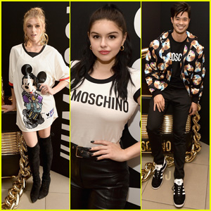 Katherine McNamara, Ariel Winter & Ross Butler Look Chic at Moschino x H&M LA Launch Event!