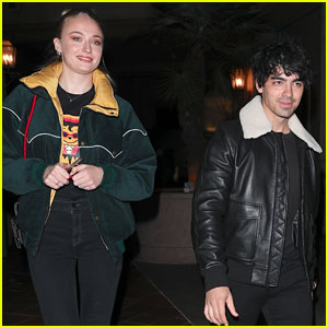 Joe Jonas & Fiancee Sophie Turner Grab Dinner After Hitting the Club!