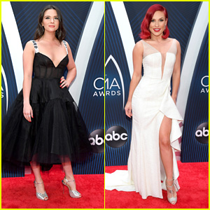 Katie Stevens & Sharna Burgess Arrive For Their First CMA Awards!