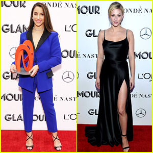 Honoree Aly Raisman Meets Lili Reinhart at Glamour Event!