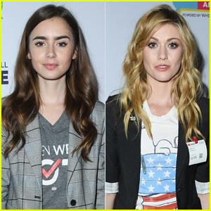 Lily Collins & Katherine McNamara Encourage Voting at Telethon For America!
