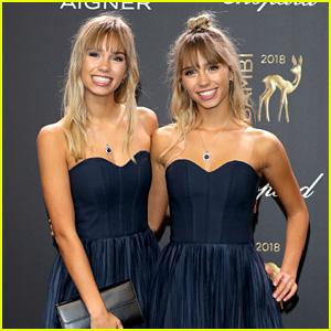 Lisa & Lena Mantler Match in Dark Blue at Bambi Awards 2018