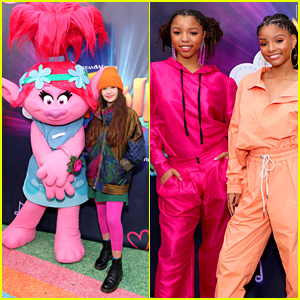 Malina Weissman Joins Chloe & Halle at 'Trolls: The Experience' Grand Opening