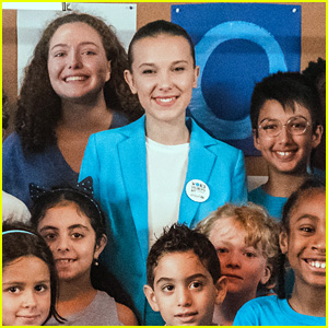 Millie Bobby Brown Goes Blue in Fun Video for UNICEF World Children's Day - Watch Now!