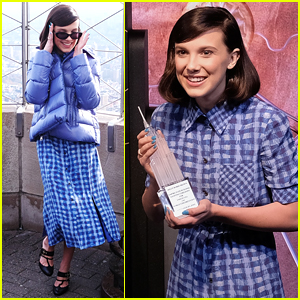 Millie Bobby Brown Bundles Up for UNICEF World Children's Day!