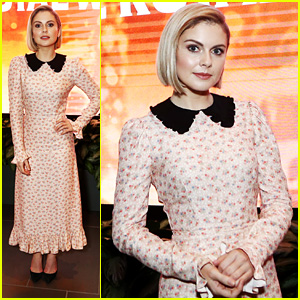 rose mciver steps out for christmas prince the royal wedding screening in la
