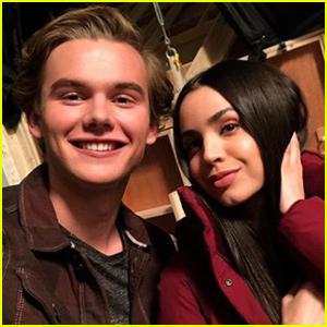 Garrett Wareing Shares On Set Selfie With Sofia Carson!
