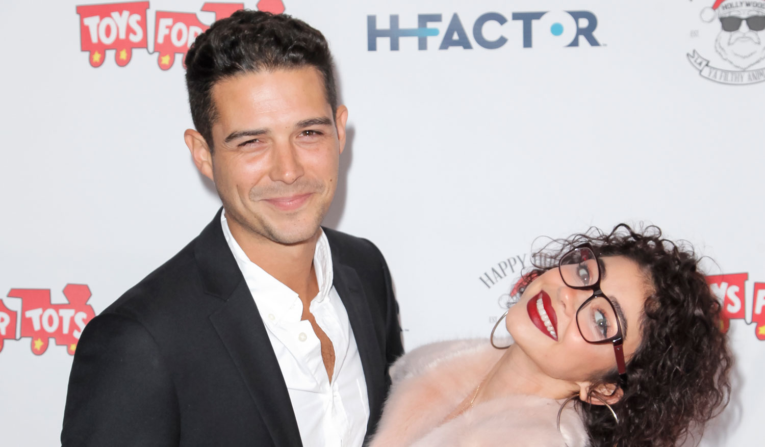 Sarah Hyland & Boyfriend Wells Adams Look Smitten at Toys for Tots Party!