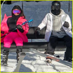 Kendall Jenner Bundles Up While Skiing with Big Sis Kim Kardashian!