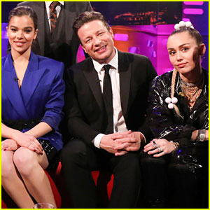 Miley Cyrus & Hailee Steinfeld Strike a Pose at 'Graham Norton Show!'