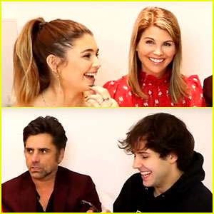 Olivia Jade & David Dobrik Teach Lori Loughlin & John Stamos Slang Terms! (Video)