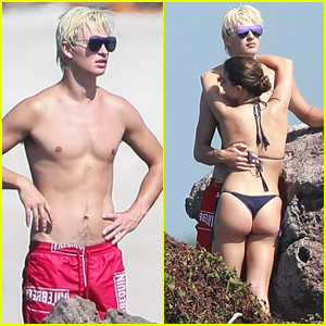 Ansel Elgort Hugs Girlfriend Violetta Komyshan in New Vacation Photos!