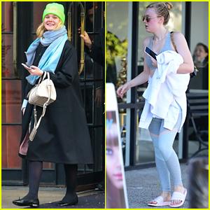 Elle & Dakota Fanning Step Out on Separate Coasts!
