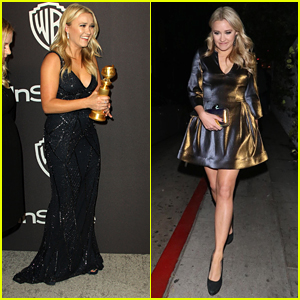 Emily Osment Parties With 'Kominsky Method' Co-Stars At Golden Globes Party After Win