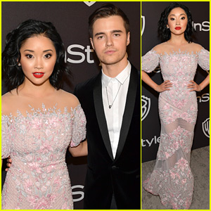 Lana Condor Attends Golden Globes Parties with Her Boyfriend!