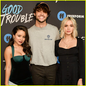 Maia Mitchell & Cierra Ramirez Reunite with Noah Centineo at 'Good Trouble' Premiere!