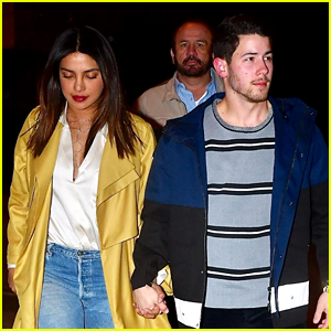 Nick Jonas Enjoys a Date Night with Wife Priyanka Chopra
