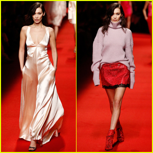 Bella Hadid Sports Two Looks for Philosophy Di Lorenzo Serafini Fashion Show!