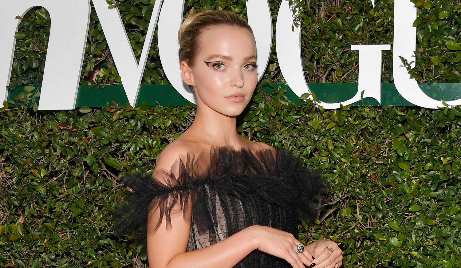 Dove Cameron Channels Black Swan at Teen Vogue Young Hollywood Party
