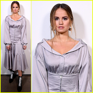 Debby Ryan is Pretty in Purple at Adeam's New York Fashion