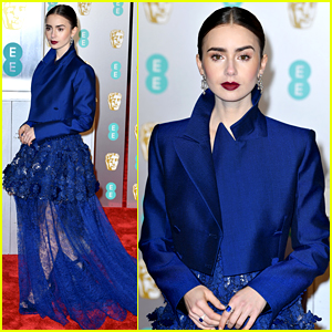 Lily Collins Is a Gorgeous Givenchy Girl at BAFTAs 2019!