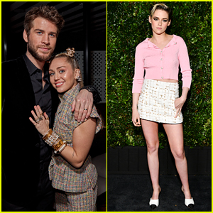 Liam Hemsworth, Miley Cyrus & Kristen Stewart Look Chic at Chanel Oscars Pre-Party!