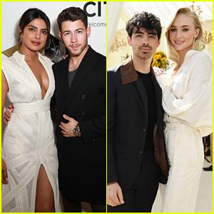 Nick & Joe Jonas Attend Pre-Grammys Parties with Their Ladies!