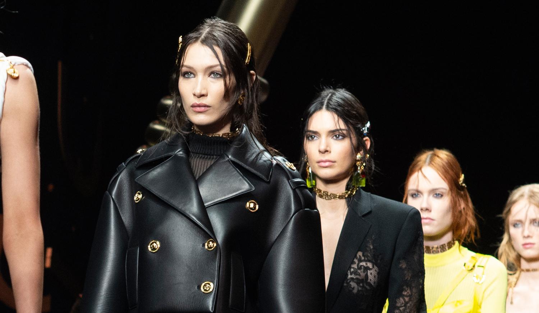Bella Hadid & Kendall Jenner Walk the Versace Runway in Milan