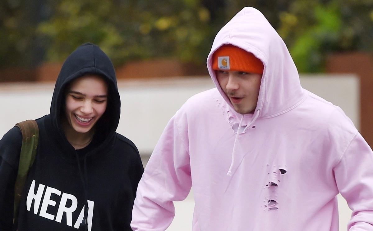 Brooklyn Beckham Holds Hands with Girlfriend Hana Cross After Workout