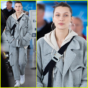 Bella Hadid Shows Off Her Trendy Airport Style After Paris Fashion Week