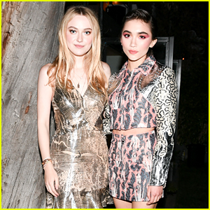 Dakota Fanning & Rowan Blanchard Buddy Up at H&M Event!