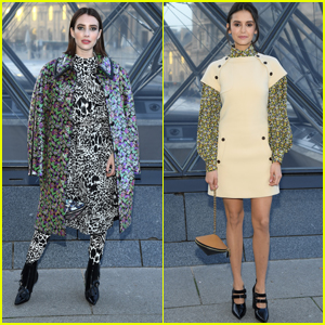 Emma Roberts & Nina Dobrev Look Chic at Louis Vuitton Fashion Show!