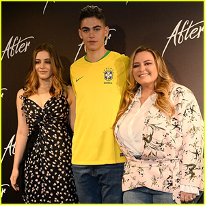 Josephine Langford Joins Hero Fiennes Tiffin in Brazil for 'After' Press Conference
