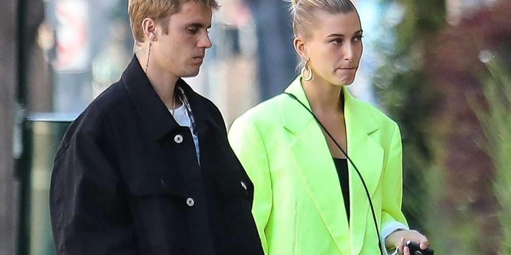Justin & Hailey Bieber Step Out Together Wearing Matching Shoes