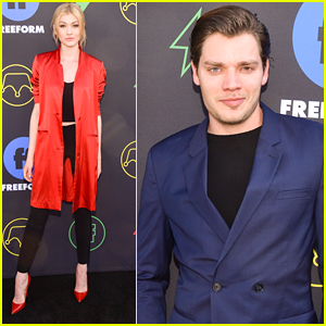 Katherine Mcnamara Shares Special Message For Shadowhunters Fans At Freeform Summit 2019 Dominic Sherwood Isaiah Mustafa Katherine Mcnamara Shadowhunters Just Jared Jr