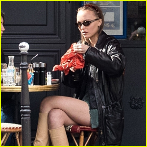 Lily-Rose Depp Grabs Lunch With Her Friend in France